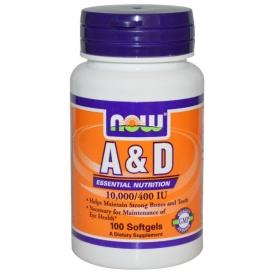 Комплекс витаминов A и D – NOW Foods