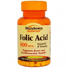 Таблетки фолиевой кислоты (витамин B9)