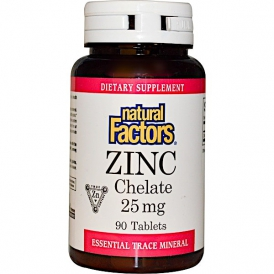 Цинк хелат - 90 таблеток по 25 мг.