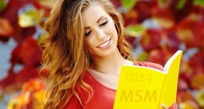 MSM для здоровья суставов, связок, хрящей, волос, ногтей и кожи.