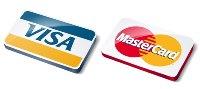 Оплата кредитными карточками VISA и MasterCard